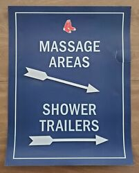 Game Used Boston Red Sox Massage Areas Sign From Fenway Park Mlb Scarce Rare