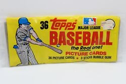 1983 Topps Baseball Cards Rack Pack Partially Opened W/ Boggs Gwynn Rookie Rc