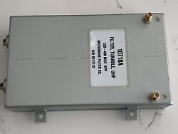 Microwave Filter 10718a Tunable Uhf 225-400mhz Filter Tested Works Great
