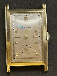 Omega Curvex Wrist Watch 1940s 14k Solid Yellow Gold