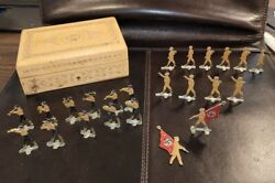 23 Vintage German Wwii Nazi Tin Soldiers - Lead - Original From Early 1940's