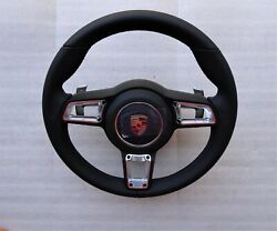 Porsche 991 991.2 Pdk Turbo S 997.2 Gt Black Leather Steering Wheel And A Bag