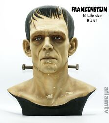 Frankenstein Horror Classic Movie Painted Life Size Bust 1/1