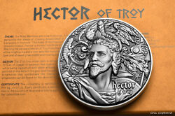 2020 - Niue - Hector Of Troy 1st In Nine Worthies Series - 2oz Silver Coin.