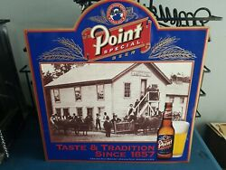 Stevens Point Beer Guys Outside Brewery Tin Back Bar Sign Wis Game Room Man Cave