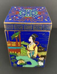Chinese Cloisonne Champleve Enamel Brass Box China Ca1900s