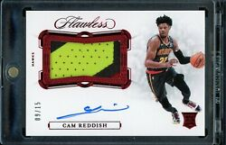 🔥【panini 2019-20 Flawless 】- Cam Reddish - Rookie Patch Auto Rpa Ruby /15 🔥