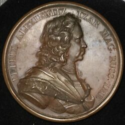 France Visit Of Peter The Great Russia To The Paris Mint 1717 60mm Medal