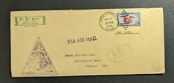 1938 Greenville Ms National Airmail Week Cover To Chicago Il