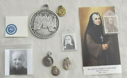 8 Relic Collection All Canadian Saints Jesuit Martyrs Free Medal Holycard Nice