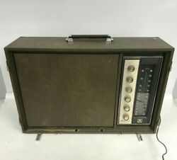 Vintage Magnavox Portable Solid State Stereo With Turntable -no Found Model