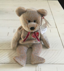 1999 Signature Bear Ty Beanie Babies Perfect Condition W/ Tag Errors