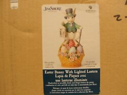 Jim Shore Easter Bunny With Lighted Lantern 6005918 -- 19.5