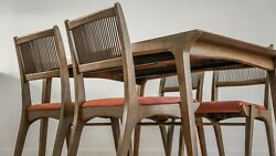 Mid Century Vintage Ashwood Dining Table And Chairs By John Van Koert For Drexel