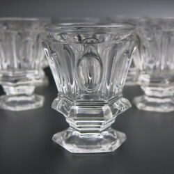 19c Antique French Crystal Wine Liquor Wisky Cup Glass Set 12pc Baccarat Creusot