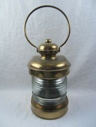Authentic Antique Brass Oil Bow-lamp National Marine Lamp Co. Nautical Lamp