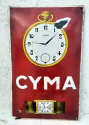 1930and039s Vintage Old Rare Cyma Watches Advertisement Porcelain Enamel Sign Board