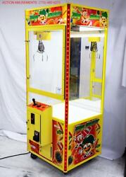 Toy Soldier 31 Skill Crane Claw Machine With Led's / Validator And Coin Slot