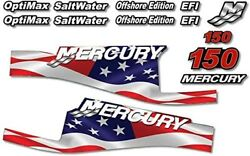 Outboard Engine Graphics Kit Sticker Decal For Mercury 150 Usa Flag