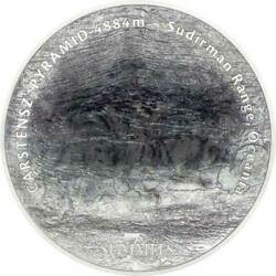 Carstensz Pyramid The 7 Summits 5 Oz Bu Silver Coin 25 Cook Islands 2020