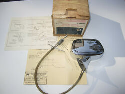 1970-1972 Buick Left Side Outside Rear View Mirror. Oem 981640 Nos Tri-shield