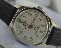 Used Hmt Military 17jewels Winding Wrist Watch For Menand039s Wear D-348-4