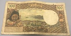 1972-1977 New Caledonia, Papeete, 100 Cent Francs, Circulated, Low Serial Number