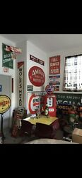 Vintage Rare Original Full Service Metal Sign - From Local Old Gas ⛽️ Station