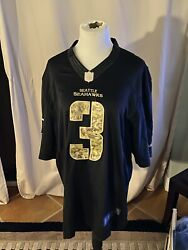 Russell Wilson Seattle Seahawks 3 Salute To Service Jersey Nike Xl Vintage Rare