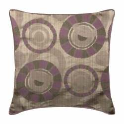 Decorative 20x20 Abstract Purple Silk Throw Pillows For Couch - Purple Wheels
