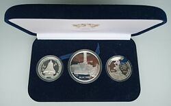 Chernobyl Nuclear Plant Accident 10 20 25 Years Medal/coin Set 4 Oz Silver Proof