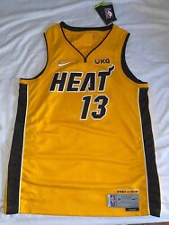 Miami Heat Trophy Gold Jersey Bam Adebayo L Bought In Store 2980/6031