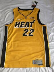Miami Heat Trophy Gold Jersey Jimmy Butler L Bought In Store 3930/6031