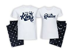 Personalised King And Queen Couples His And Hers Husband And Wife Matching Pyjamas