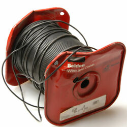 New 590ft Belden 8520 Hook-up Wire 14 Awg 1000v 1 Cond. Black Tinned Copper