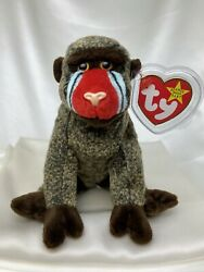 Rare Retired Ty Beanie Baby Cheeks The Ape 1999 Mint P.e. Pellets With Errors