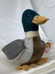 Rare Retired Ty Beanie Baby Jake The Duck 1997-1998 Mint Pellets Numerous Errors