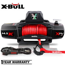 X-bull Electric Winch 14500lbs 12v Synthetic Rope Jeep Towing Truck Off Road 4wd