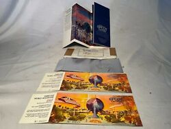 Unused/new Set 2 Wdw 1982 Epcot Commemorative Opening Day Tickets + Brochure