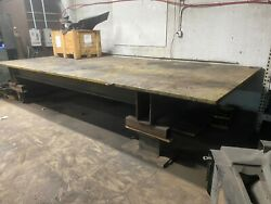 Massive Welding Table 17 Foot X 8 Foot 1 1/2andrdquo Thick Top Plate Logansmetal4x4