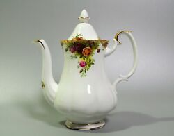 Royal Albert Old Country Roses Coffee Pot Large 10 With Lid English Bone China