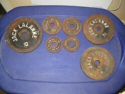 Jack Lalanne Weights 32.5 Pounds 1 Inch Holes, Vintage And Rare. See Description