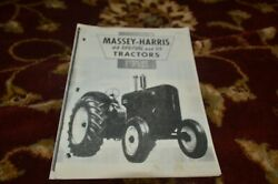 Massey Harris 44 Special 55 Tractor Operator Manual Lhpa