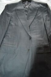 6k Nwt Tom Ford 46 Eu56 Long Charcoal Gray Birdseye Menand039s Fit A Peak Wool Suit