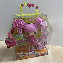 New Lalaloopsy Large Full Size Doll Silly Hair Jewel Sparkles W/ Kitty Cat Pet