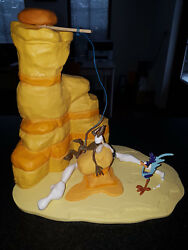 Extremely Rare Looney Tunes Wile E Coyote Failed Trap For Road Runner Statue