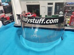 Signed By Robby Unser Race-used Visor Indy 500 Looking For Indy Collector Nice
