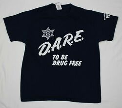 D.a.r.e. Dare To Keep Kids Off Drugs Drug Awareness T Shirt Size M