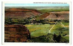 Golden CO from Wild Cat Point Lookout Mountain Postcard *6V 3 26