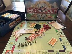 Monopoly Deluxe Edition 1998 Wood Houses/hotels Gold Tokens Complete